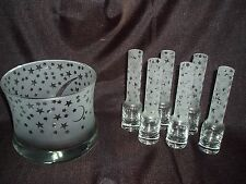 7 Piece Shot Glasses with Chilling Ice Bucket