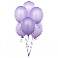 "72 Latex Balloons 12"" With Clips and Curling Ribbon-Lavender"