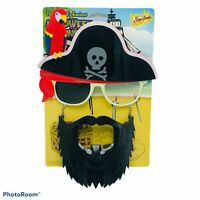 Pirate Mask Sun Glasses Sun-Stache Beard World's Easiest Halloween Costume Funny