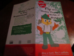 Vtg 1997 Woodsy Owl Brochure OUTDOOR FUN / US Dept. of Ag TRIFOLD