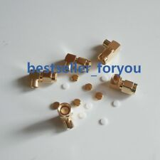 10x  SMA male right angle RF coaxial conector for RG402 Semi-flexible Cable