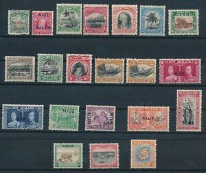 NIUE **21 DIFFERENT (1902-1950)**; ALL MH; SHOWN FRT & BK; CV $66