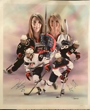 Amanda Kessel Hilary Knight Dual Signed 20x24 Canvas Autograph USA Hockey
