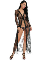 Women Sexy Lace Floral Maxi Nightgown Dress Pajamas Sleepwear Night Nightwear
