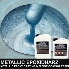 Epoxidharz SILVERSTONE LIGHT BLUE Metallic Boden Rivertisch Table Gießharz Resin