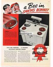 1937 Hotpoint Dorchester Oven Stove Range Retro Kitchen Vtg Print Ad