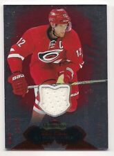 Eric Staal 14-15 Fleer Showcase Red Glow Game Used Jersey /36