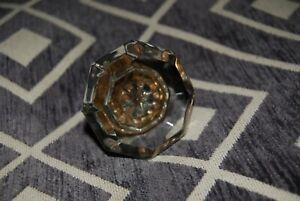 Antique Clear Glass Doorknob (8 point)