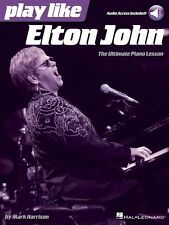 Play like Elton John - The Ultimate Piano Lesson Book with Online Audi 000128279