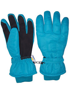 NICE CAPS Womens Waterproof Thinsulate Cold Weather Winter Ski Glove with Ridges