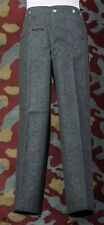 Pantalone uniforme tedesca feldgrau M40-WW2 German wool fied grey trousers pants