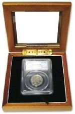 Glass Top Display Box for 1 Slab Certified Coin Holder Case PCGS NGC ANA