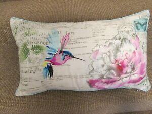 Dunelm Hummingbird floral cushion 30 x 50 cm approx