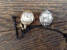 Lot of 2 Small Vintage Ladies Wrist Watches Elgin & New-Ardath for Repair