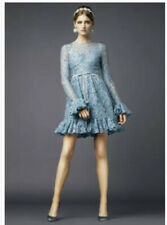 Dolce and Gabbana Fringe-Trimmed Lace Dress Size 38