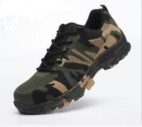 Men Safety Shoes Summer Breathable Steel Toe Work Boots Hiking Climbing Military