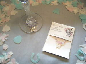 10 pks personalised butterfly wine glass charms wedding birthday party favor