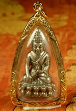 NEW Bronze THAI KRING BUDDHA PENDANT Statue Amulet  Blessed in Thailand Temple