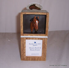 Border Fine Arts Thoroughbred Horse Moneybox and Picture Frame