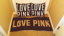 Victoria's Secret Pink throw body pillows leopard cheetah black dorm college vs