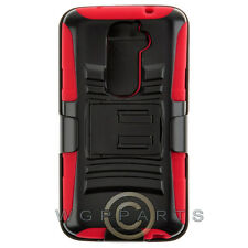 LG VS980 Optimus G2 Hybrid H Stand with Holster Red Case Cover Shell Protector