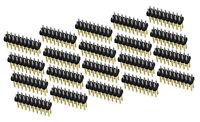 20Stk 2x9 Pin Stiftleiste Stecker 2,54mm für Prototyping Arduino