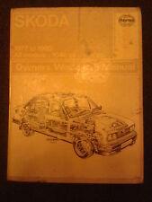 Haynes Manuel pour Skoda Estelle, tous les modèles, 1977-1980 1046cc et 1174cc