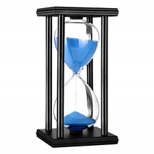 Hourglass Timer 30 Minutes Wood Sand Hourglass Clock for Creative Gifts Decor