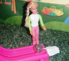Barbie Pink Green Bowling Miniature Doll 1999 Bowling Lane & Doll McDonalds