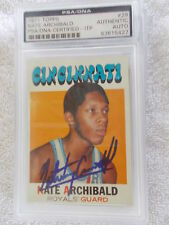 NATE ARCHIBALD HAND SIGNED 1971 TOPPS ROOKIE CARD PSA ITP ENCAPSULATED 83815427