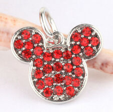 925 Silver Cartoon red CZ Charm Beads Fit European Charm Bracelet Pendant #B369
