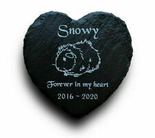 Personalised Engraved Slate Heart Pet Memorial Grave Marker Plaque Guinea Pig
