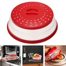 Plastic Microwave Plate Cover Collapsible Colander Strainer Storage Kitchen *