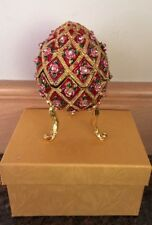 Chinese Cloisonne Inlaid Rhinestone  egg  Jewelry Box