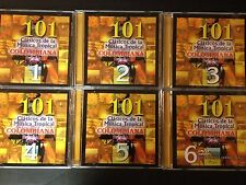 1 Lot of (6) 101 Clasicos de la Musica Tropical Columbiana (CDs 1-5 & Bonus DVD)