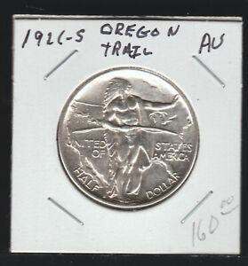 1926-S Oregon Trail Commemorative Half Dollar, AU