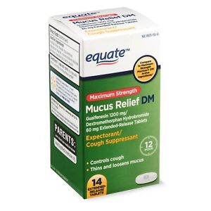Equate Maximum Strength Mucus Relief DM Extended Release Tablets, 14 Count..