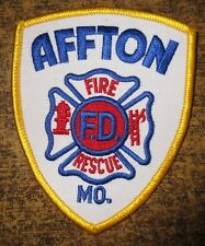 AFFTON FIRE DEPT MISSOURI FIRE/RESCUE DEPARTMENT PATCH!