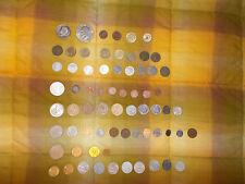 68 VARIOUS COINS,MONETE VARIE,10 LIRE 1954,1/2 DOLLARO D'ARGENTO 1965...