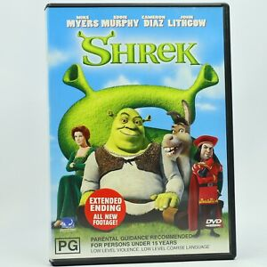 Shrek 2001 DVD Extended Ending Edition Good Condition Free Tracked Post