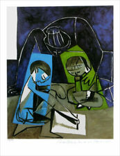 Pablo Picasso Children Writing Limited Edition Giclee Estate Signed 20x13