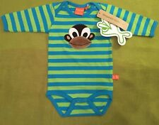 Scandi BNWT stripe Organic Monkey Lipfish baby l/sleeve vest Newborn (Eur 50/56)