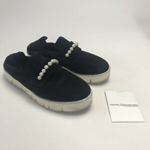 kennel schmenger 3.5 Ocean Pearl Black Flat Shoe Suede Rare Slip On Flats Design