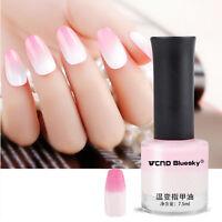 7.5ml Thermal Nail Art Polish Temperature Color Changing Varnish Manicure #02