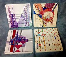 Frank Lloyd Wright Stone Coasters Art Deco  Design Set of 4  FREE SHIPPING!