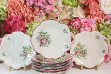 Luneville, France, Hand Painted Leaf Plates (8)