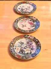 New ListingLena Liu`s Hummingbird Treasury Collector Plates (3), W.L. George Fine China