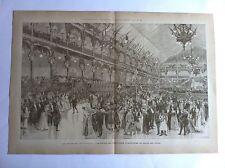 Palais Industrie en Salle des fétes Gravure exposition universelle PARIS 1889