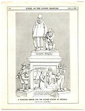 1896 Anti-Paul Kruger, Anti-Boer Punch Cartoon `18P