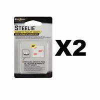Nite Ize Steelie Magnetic Tablet Socket Replacement Adhesives Kit (2-Pack of 2)